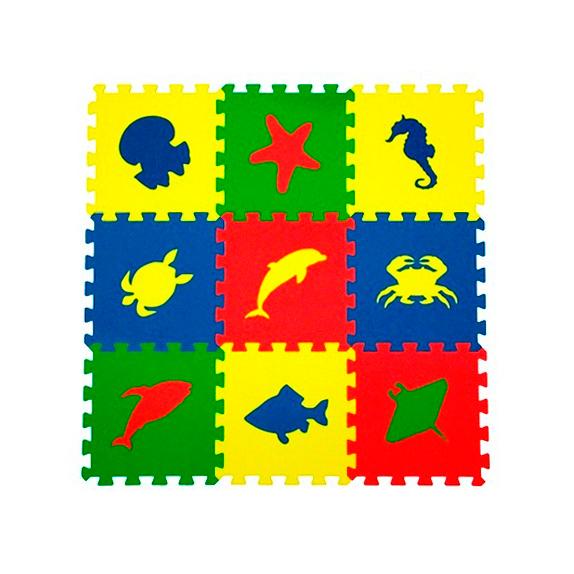 Мягкий пол универсальный «Морские животные» 33 X 33