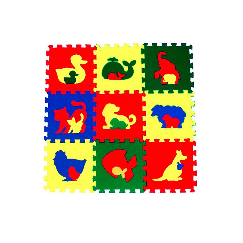 Мягкий пол универсальный «Животные» 33 X 33