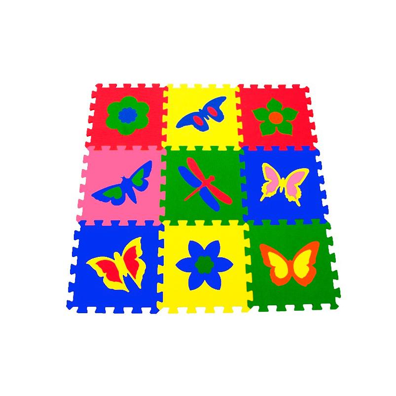 Мягкий пол универсальный «Бабочки» 33x33